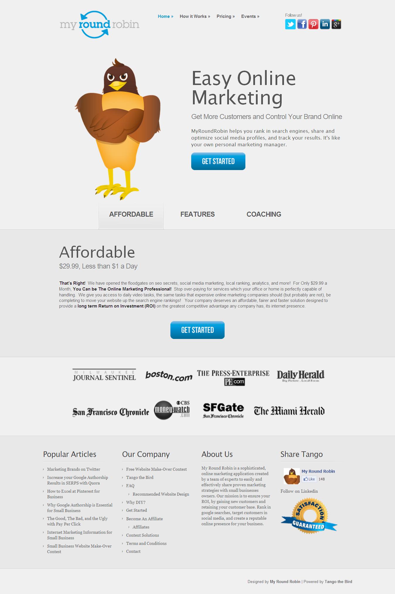 my round robin website