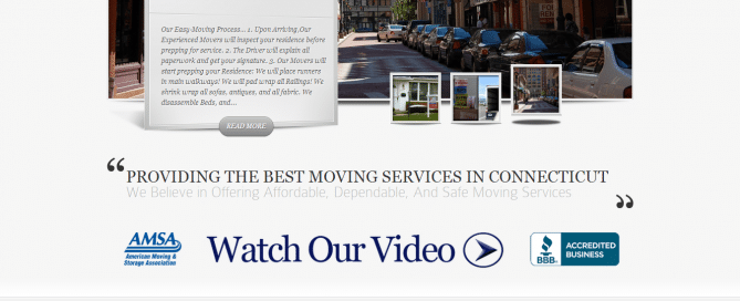 GeoMetric Moving Website development
