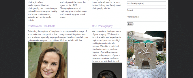 rks shots photography web design