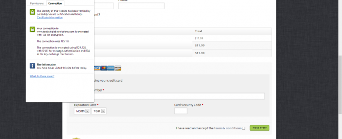 secured woocommerce checkout verified in google chrome
