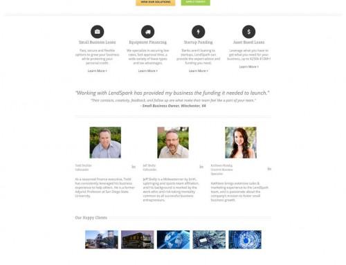 Business Advisory and Lending Website