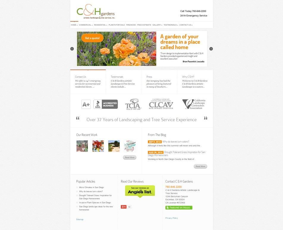 landscape designer website client