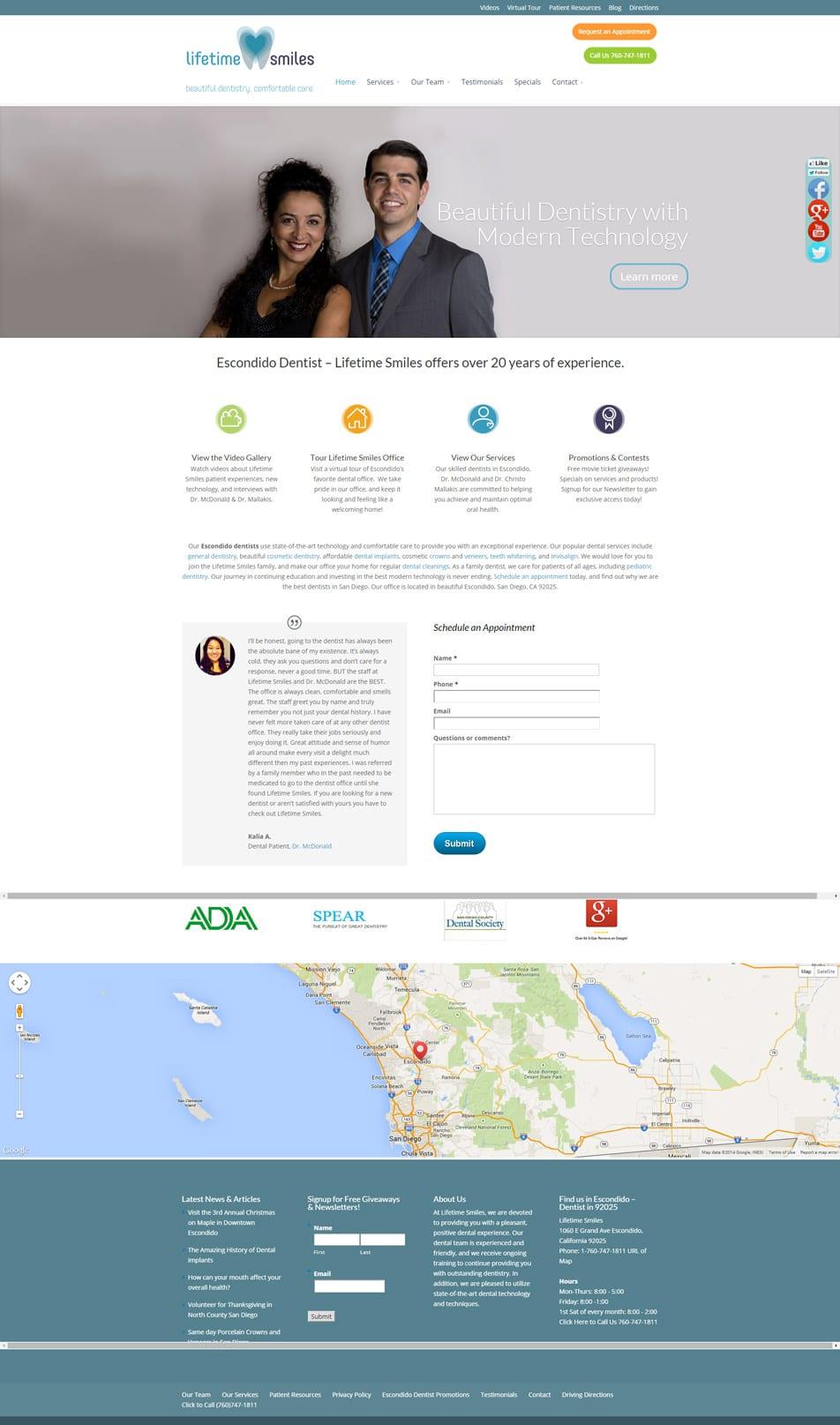Dental Website Design by KickinKnowledge